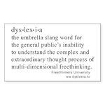 Dyslexia definition Rectangle Sticker