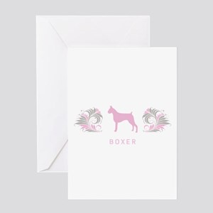 """Elegant"" Boxer Greeting Card"