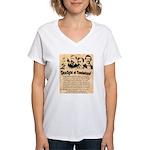Wanted The Earps Women's V-Neck T-Shirt
