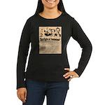 Wanted The Earps Women's Long Sleeve Dark T-Shirt