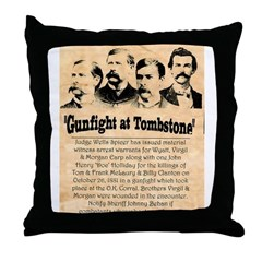 Wanted The Earps Throw Pillow