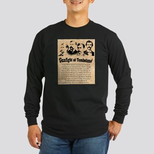 Wanted The Earps Long Sleeve Dark T-Shirt
