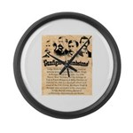 Wanted The Earps Large Wall Clock