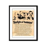 Wanted The Earps Framed Panel Print
