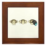 Chimp No Evil Framed Tile