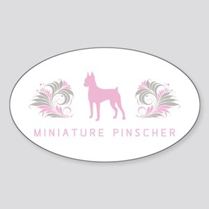 """Elegant"" Miniature Pinscher Oval Sticker"