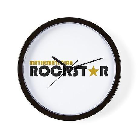 Mathematician Rockstar 2 Wall Clock