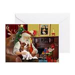 Santas Cavalier Greeting Cards (Pk of 10)