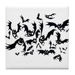 the bats Tile Coaster