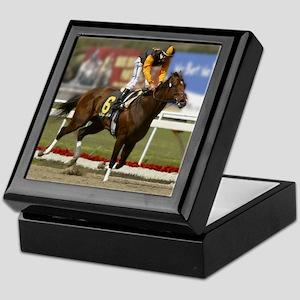 jockey and horse #6 Keepsake Keepsake Box