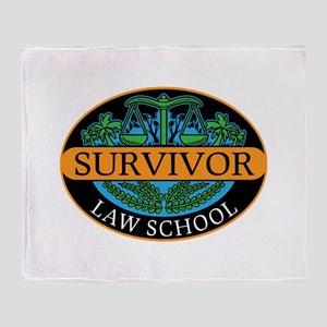 Law school survivor new attorney law Throw Blanket