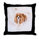 Cavalier King Charles In Bed Throw Pillow