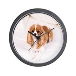 Cavalier King Charles In Bed Wall Clock