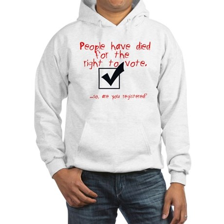 Are You Registered? Hooded Sweatshirt