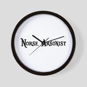 Norse Arsonist Wall Clock