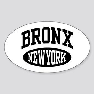 Bronx New York Oval Sticker