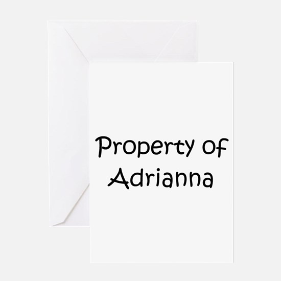Unique Adrianna Greeting Card