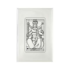 Vintage Justice Tarot Card Rectangle Magnet (10 pa