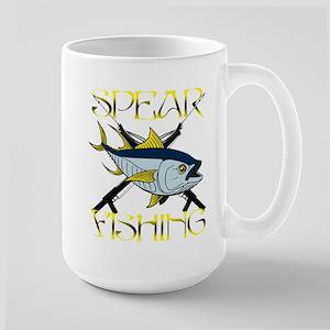 TUNA SPEAR FISHING Large Mug