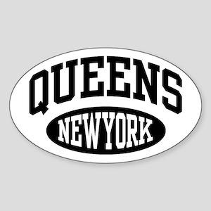 Queens New York Oval Sticker