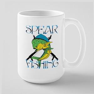 DOLPHIN SPEAR FISHING Large Mug