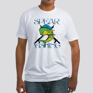 DOLPHIN SPEAR FISHING Fitted T-Shirt