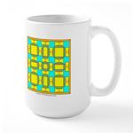 Dutch Gold And Yellow Design Large Mug
