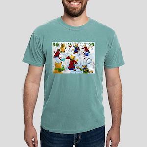 Christmas Snowball Fight Cats 2 T-Shirt