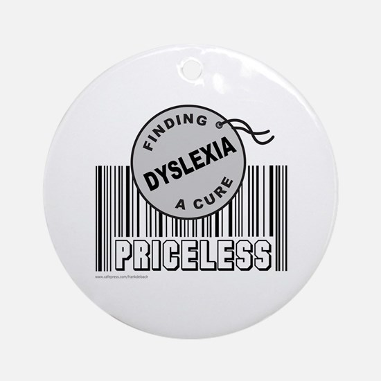 DYSLEXIA FINDING A CURE Ornament (Round)