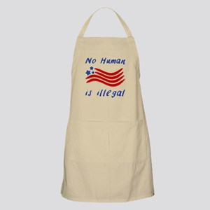 No Human Is Illegal Light Apron