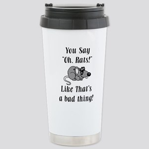 Oh Rats Stainless Steel Travel Mug