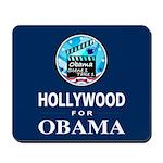 HOLLYWOOD FOR OBAMA Mousepad