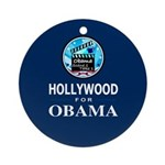 HOLLYWOOD FOR OBAMA Ornament (Round)