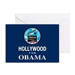 HOLLYWOOD FOR OBAMA Greeting Cards (Pk of 20)