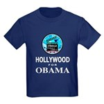 HOLLYWOOD FOR OBAMA Kids Dark T-Shirt