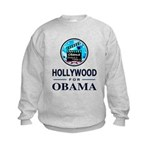 HOLLYWOOD FOR OBAMA Kids Sweatshirt