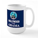 HOLLYWOOD FOR OBAMA Dark Large Mug