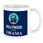HOLLYWOOD FOR OBAMA Dark Mug