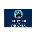 HOLLYWOOD FOR OBAMA Rectangle Magnet (100 pack)