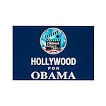 HOLLYWOOD FOR OBAMA Rectangle Magnet (10 pack)