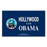 HOLLYWOOD FOR OBAMA Rectangle Sticker 50 pk)