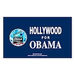 HOLLYWOOD FOR OBAMA Rectangle Sticker 10 pk)