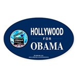 HOLLYWOOD FOR OBAMA Oval Sticker (10 pk)