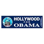 HOLLYWOOD FOR OBAMA Bumper Sticker