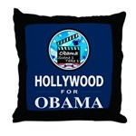 HOLLYWOOD FOR OBAMA Throw Pillow
