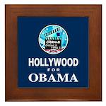 HOLLYWOOD FOR OBAMA Framed Tile