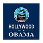 HOLLYWOOD FOR OBAMA Tile Coaster