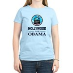 HOLLYWOOD FOR OBAMA Women's Light T-Shirt