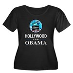 HOLLYWOOD FOR OBAMA Women's Plus Size Scoop Neck D