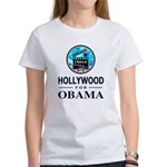 HOLLYWOOD FOR OBAMA Women's T-Shirt